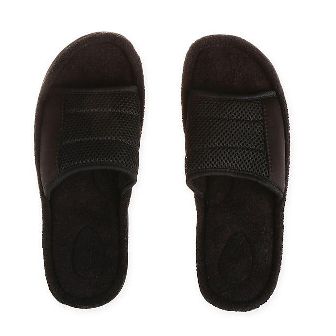 76476c28251fd Therapedic® Men's Slide Slipper in Black | Bed Bath & Beyond