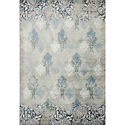KAS Provence Brighton Viscose 5-Foot 3-Inch x 7-Foot 7-Inch Area Rug in Slate Blue