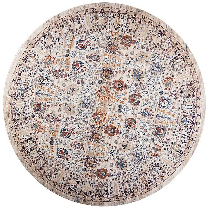Alternate image 1 for KAS Seville 7-Foot 7-Inch Round Area Rug in Beige Chester