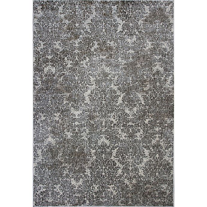 Alternate image 1 for KAS Provence 2-Foot 2-Inch x 3-Foot 7-Inch Damask Runner Rug in Ivory/Sand