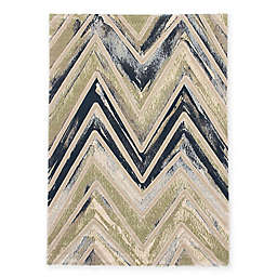 Abstract 5-Foot 3-Inch x 7-Foot 7-Inch Area Rug in Grey/Green