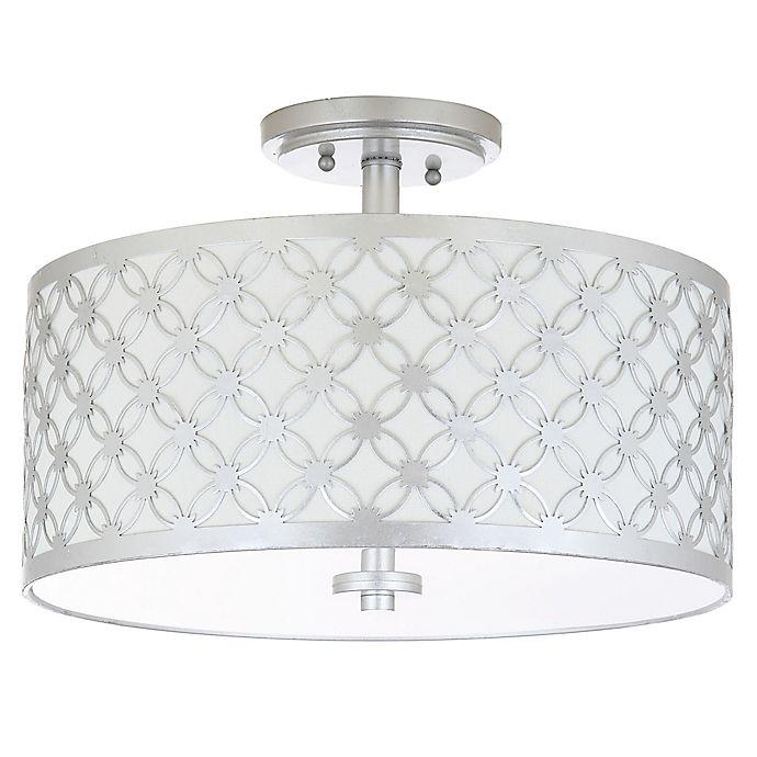 Alternate image 1 for Safavieh Hutch 3-Light Flush Mount Ceiling Fixture in Silver