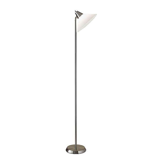 Alternate image 1 for Adesso Swivel Floor Lamp with Shade