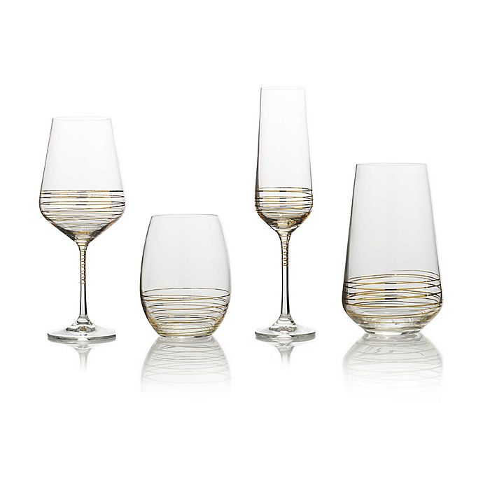 Alternate image 1 for Mikasa® Electric Boulevard Gold Wine Glass Collection