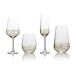 Mikasa® Electric Boulevard Gold Wine Glass Collection