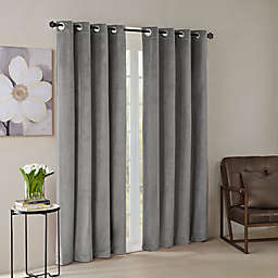 Madison Park® Monroe Solid Velvet Grommet Top Window Curtain Panel