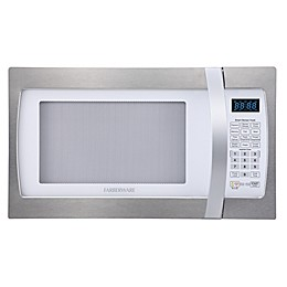 Farberware® 1.3 Cubic Feet Microwave Oven with Smart Sensor Cooking in Stainless Steel/Platinum