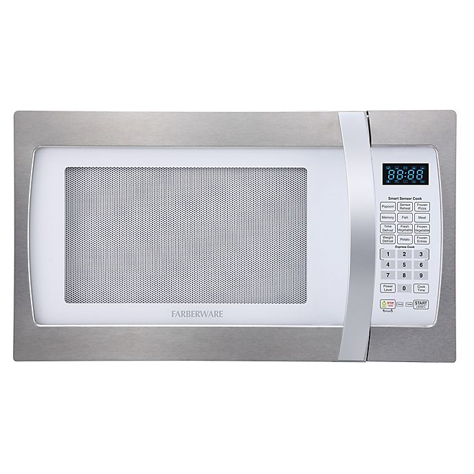Alternate image 1 for Farberware® 1.3 Cubic Feet Microwave Oven with Smart Sensor Cooking in Stainless Steel/Platinum