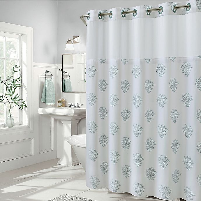 Alternate image 1 for Hookless® Coral Reef Shower Curtain in Grey Mist