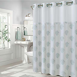 Hookless Coral Reef Shower Curtains
