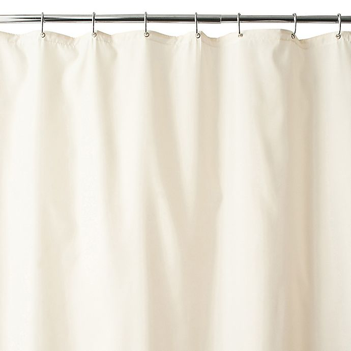 Alternate image 1 for Wamsutta® Fabric Shower Curtain Liner with Suction Cups