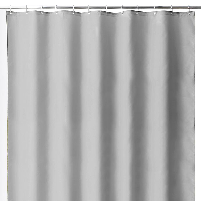 Alternate image 1 for Wamsutta® 70-Inch x 72-Inch Fabric Shower Curtain Liner with Suction Cups in Grey