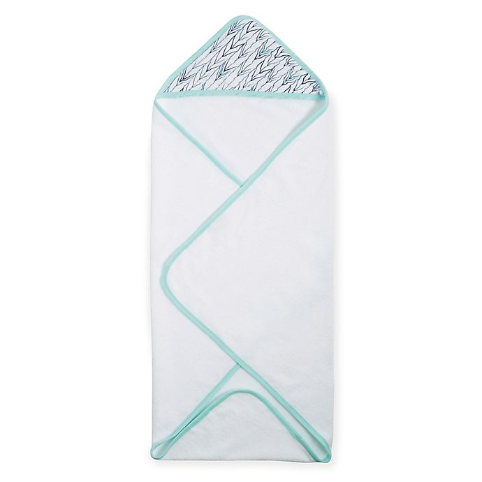 Alternate image 1 for aden® by aden + anais® Hooded Towel in Indigo Trail