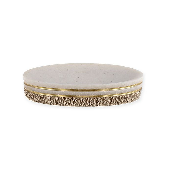 Golden Pineapple Soap Dish In Ivory Bed Bath Amp Beyond