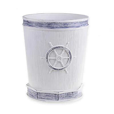 Seabound Wastebasket in White