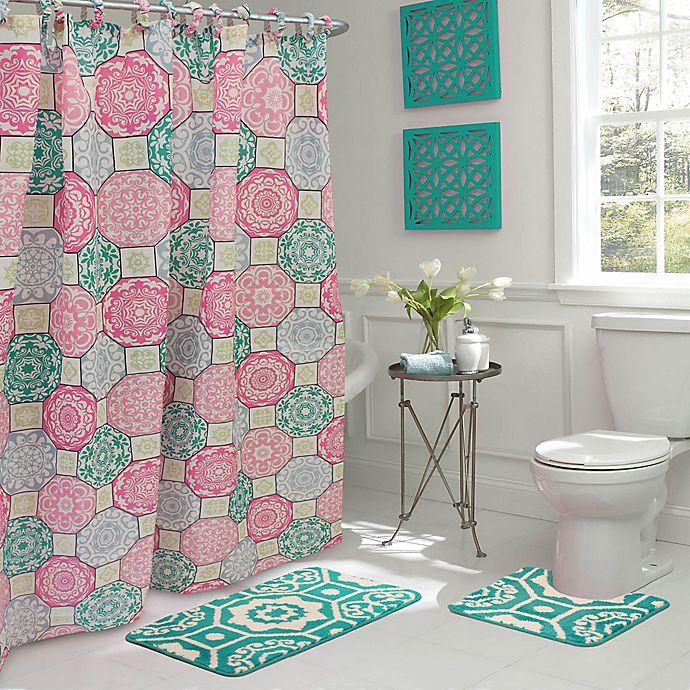 Alternate image 1 for Addison 15-Piece Bath Bundle Set in Pink/Blue