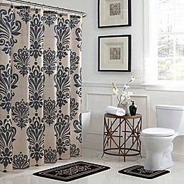 Reverly 15-Piece Bath Bundle Set in Black/Linen