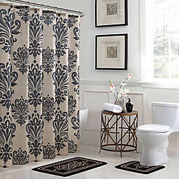 Reverly 15 Piece Bath Bundle Set In Black Linen