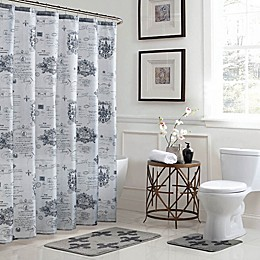 Fleur De Lis 15-Piece Bath Bundle Set in Grey