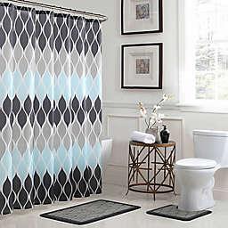 Clarisse 15-Piece Bath Bundle Set in Grey/Blue