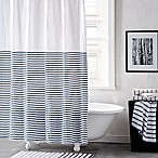 DKNY Parsons Stripe Shower Curtain in Blue Aire