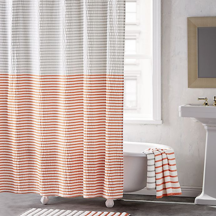 Alternate image 1 for DKNY Parsons Stripe 72-Inch Shower Curtain