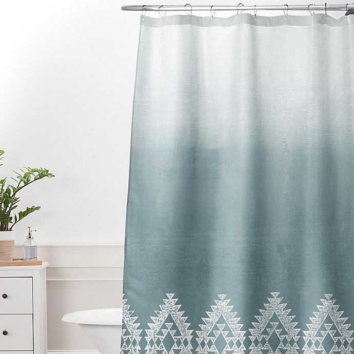 Alternate image 1 for Deny Designs Dash and Ash Morning Fog Shower Curtain in Blue
