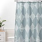 Deny Designs Mareike Boehmer Sketches 1 Standard Shower Curtain in Blue