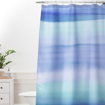 Deny Designs Amy Sia Ombre Watercolor Shower Curtain In Blue