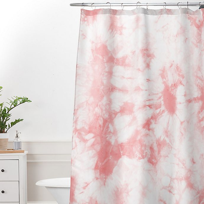 Alternate image 1 for Deny Designs Amy Sia Tie Dye 3 Shower Curtain in Pink