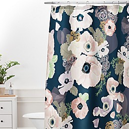 Deny Designs Khristian A Howell Une Femme Shower Curtain in Blue