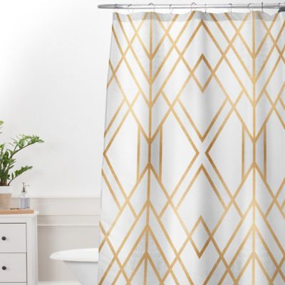 Deny Designs Elisabeth Frederiksson Geo Shower Curtain Bed Bath