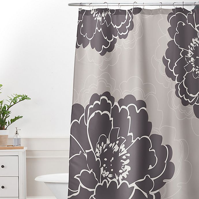 Deny Designs Caroline Okun Winter Peony Shower Curtain