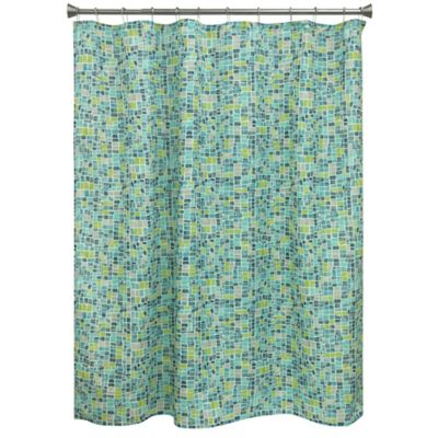 Bacova Mosaic Tile Shower Curtain
