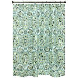 Bacova Mosaic Circle Shower Curtain