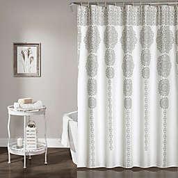 Stripe Medallion 72-Inch Shower Curtain