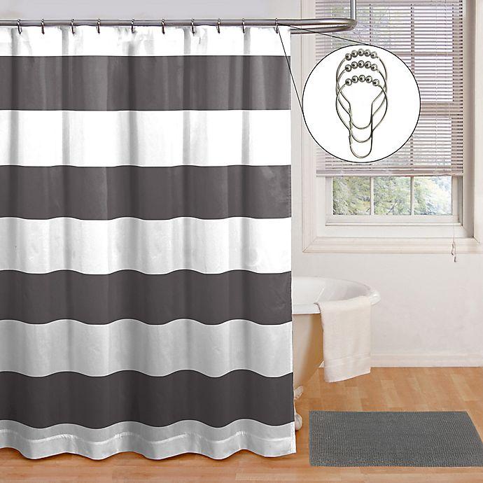 Alternate image 1 for Chase 3-Piece Bath Bundle in Grey Stripe