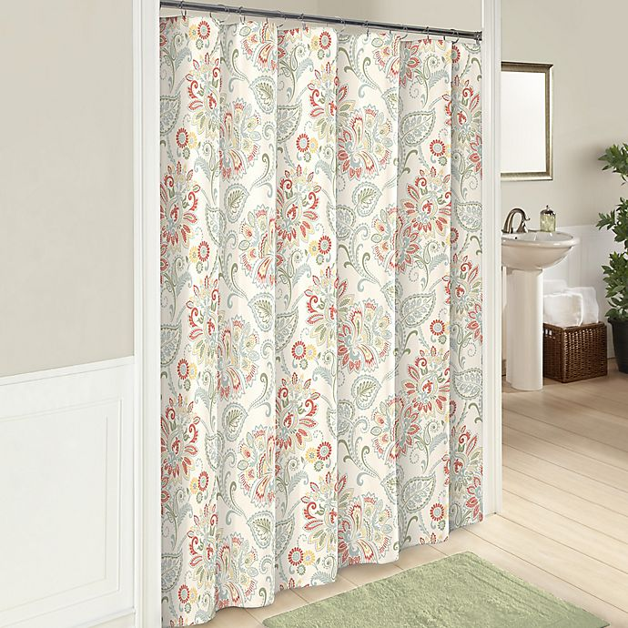 Alternate image 1 for Carlisle 72-Inch Cotton Shower Curtain in Basil