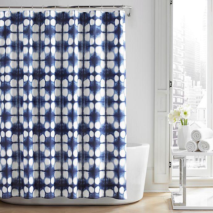 Alternate image 1 for City Loft™ Nona Shower Curtain in Navy