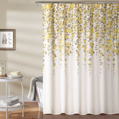 Weeping flower 72 inch shower curtain in yellowgrey bed bath beyond mightylinksfo