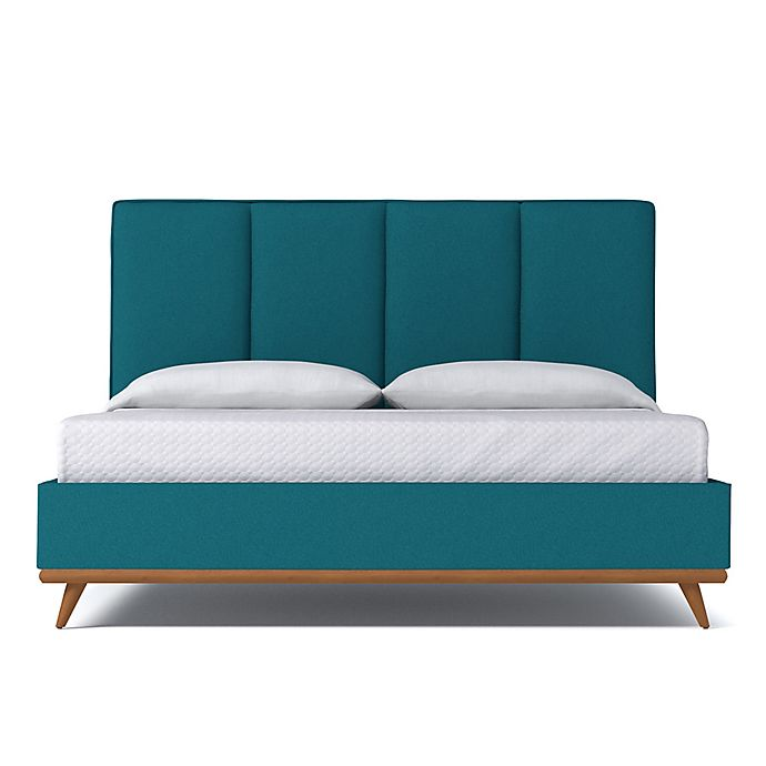 Alternate image 1 for Kyle Schuneman for Apt2B Carter King Upholstered Bed in Biloxi Blue