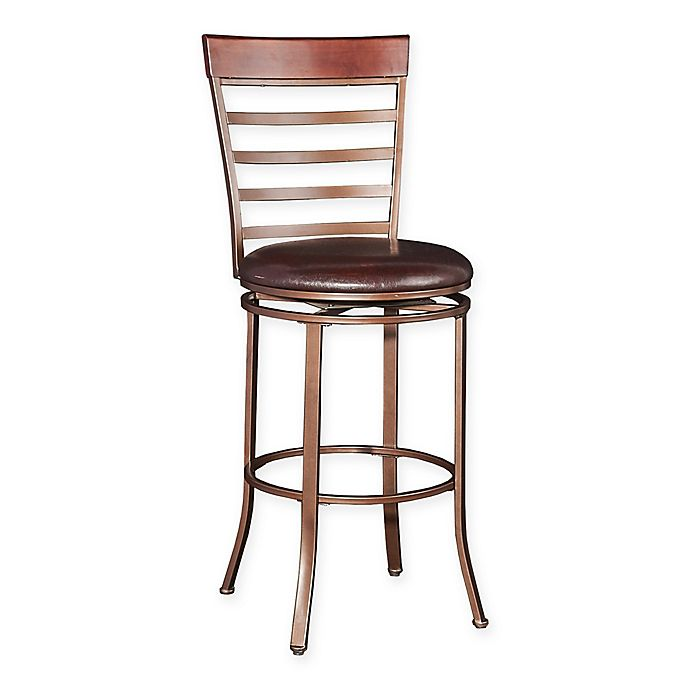 Cool Powell Big And Tall Miller Bar Stool In Bronze Bed Bath Theyellowbook Wood Chair Design Ideas Theyellowbookinfo