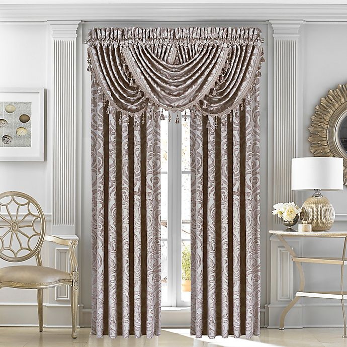 Alternate image 1 for J. Queen New York™ Sicily 84-Inch Window Curtain Panel Pair in Pearl