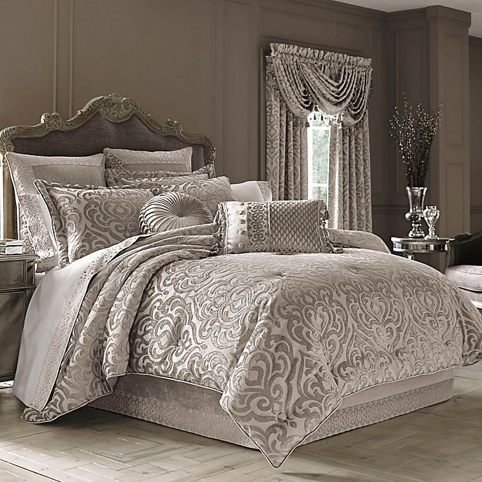 J Queen New York Sicily Comforter Set In Pearl Bed Bath Beyond