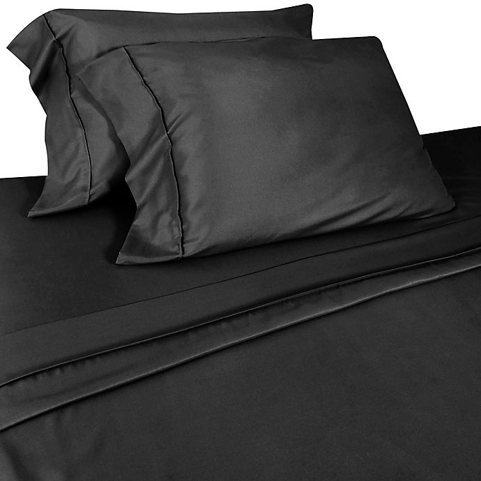 Alternate image 1 for Micro Lush Microfiber King Sheet Set in Black