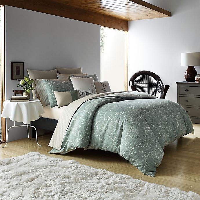 Alternate image 1 for ED Ellen DeGeneres Eden Reversible Comforter Set in Light Green