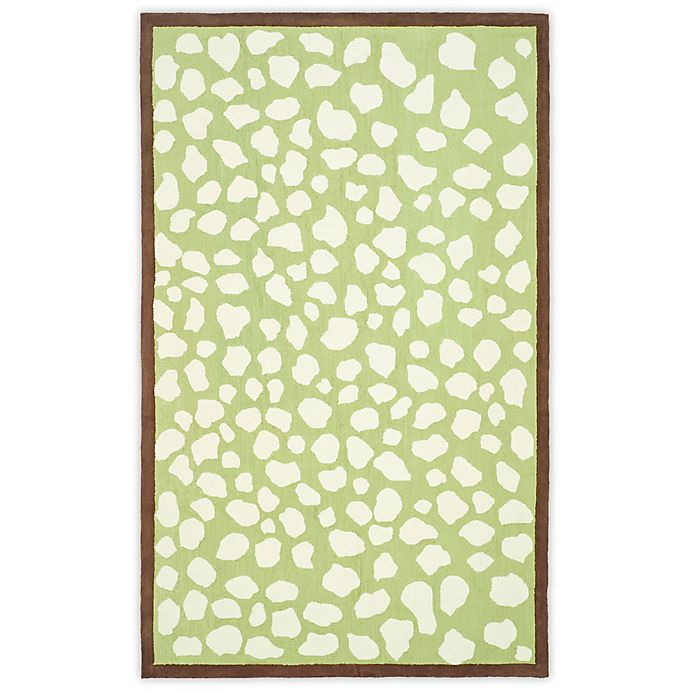 Alternate image 1 for Safavieh Kids® Pebbles Rug in Green/Ivory