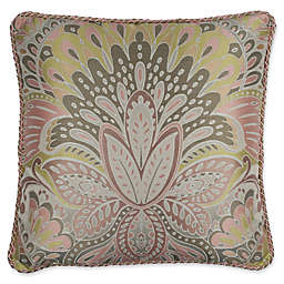 Austin Horn Classics Wanderlust 20-Inch Square Throw Pillow in Red/Tan