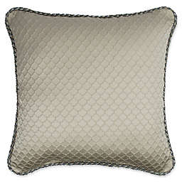 Austin Horn Classics Elegance 18-Inch Square Throw Pillow in Taupe/Grey