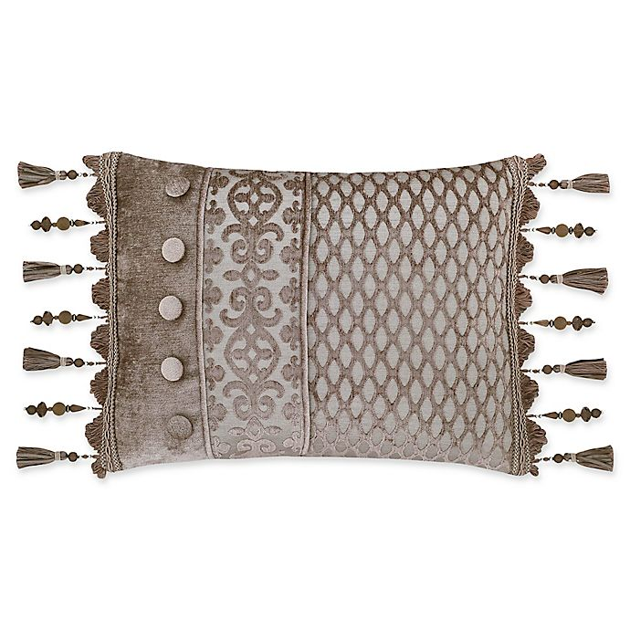 Alternate image 1 for J. Queen New York™ Sicily Oblong Throw Pillow in Pearl